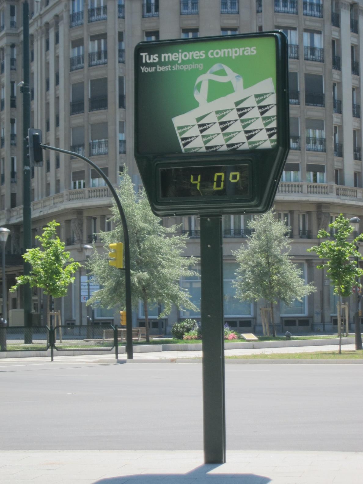 Aviso naranja por altas temperaturas en la Ribera del Ebro y Bajo Aragón