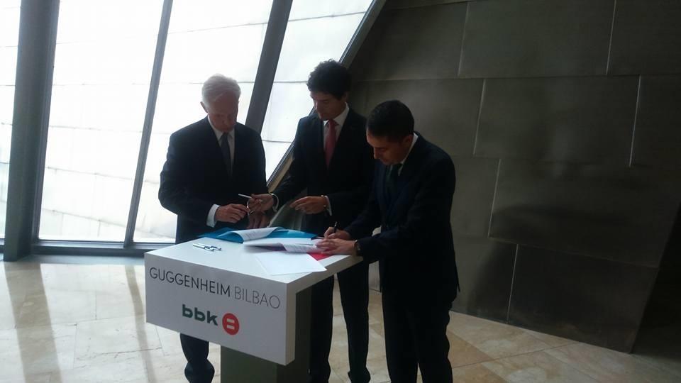 BBK aportará 750.000 euros anuales en los próximos 5 años para  proyectos culturales y sociales del Museo Guggenheim