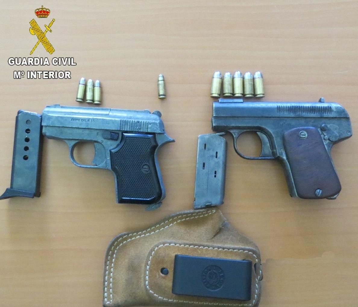 Detenido un hombre de 51 años en Alfaro por tenencia ilícita de armas de fuego