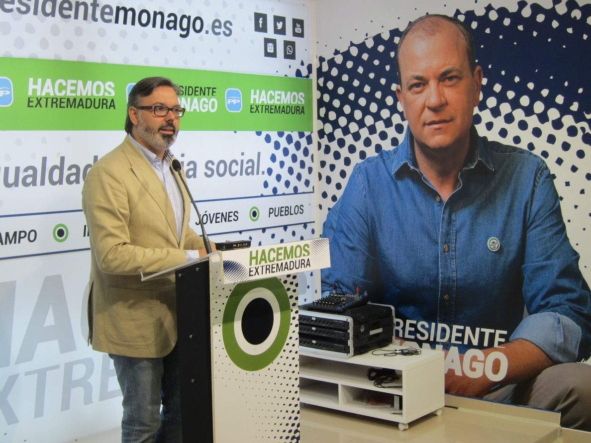 Fernando Pizarro, nuevo portavoz del PP extremeño tras ser propuesto por  Monago en la Junta Directiva Regional