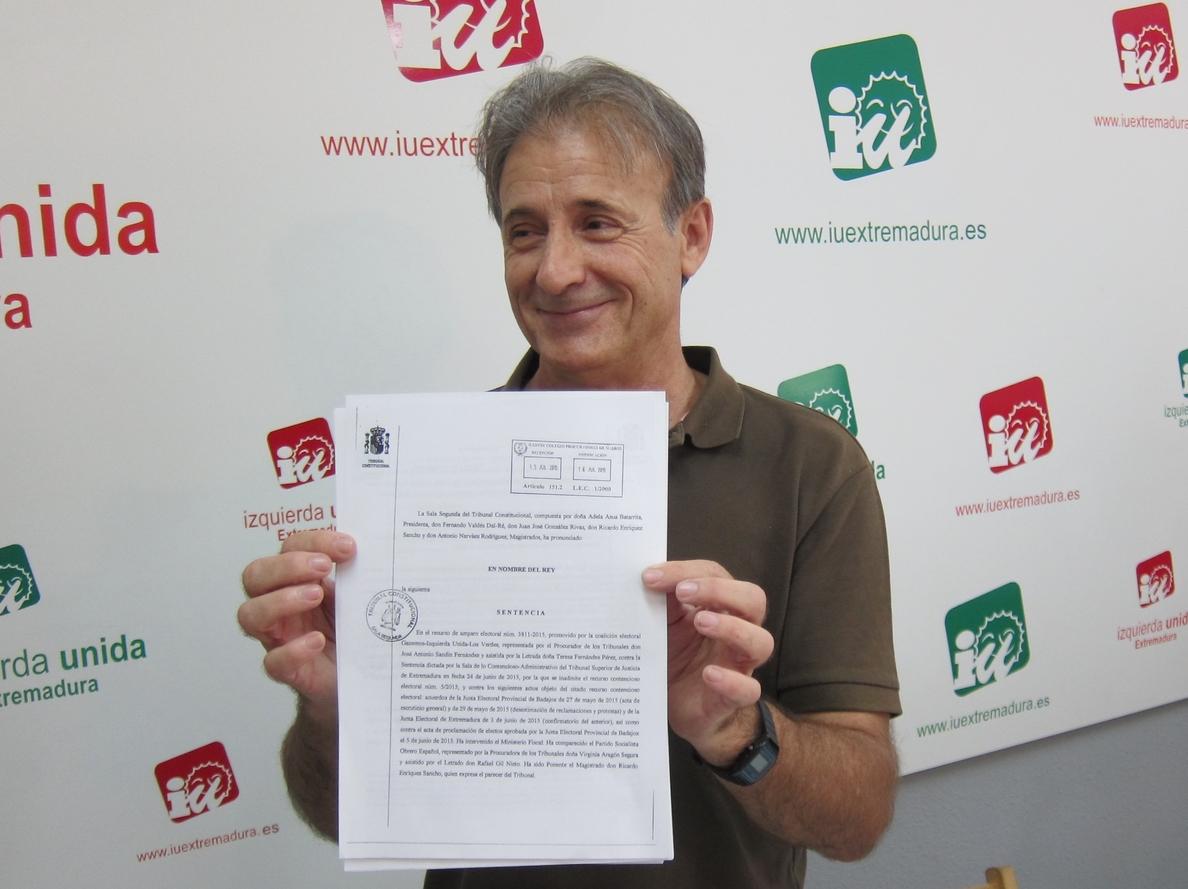 IU Extremadura llevará «hasta el final» el recuento de votos nulos y no descarta la repetición de elecciones en Badajoz
