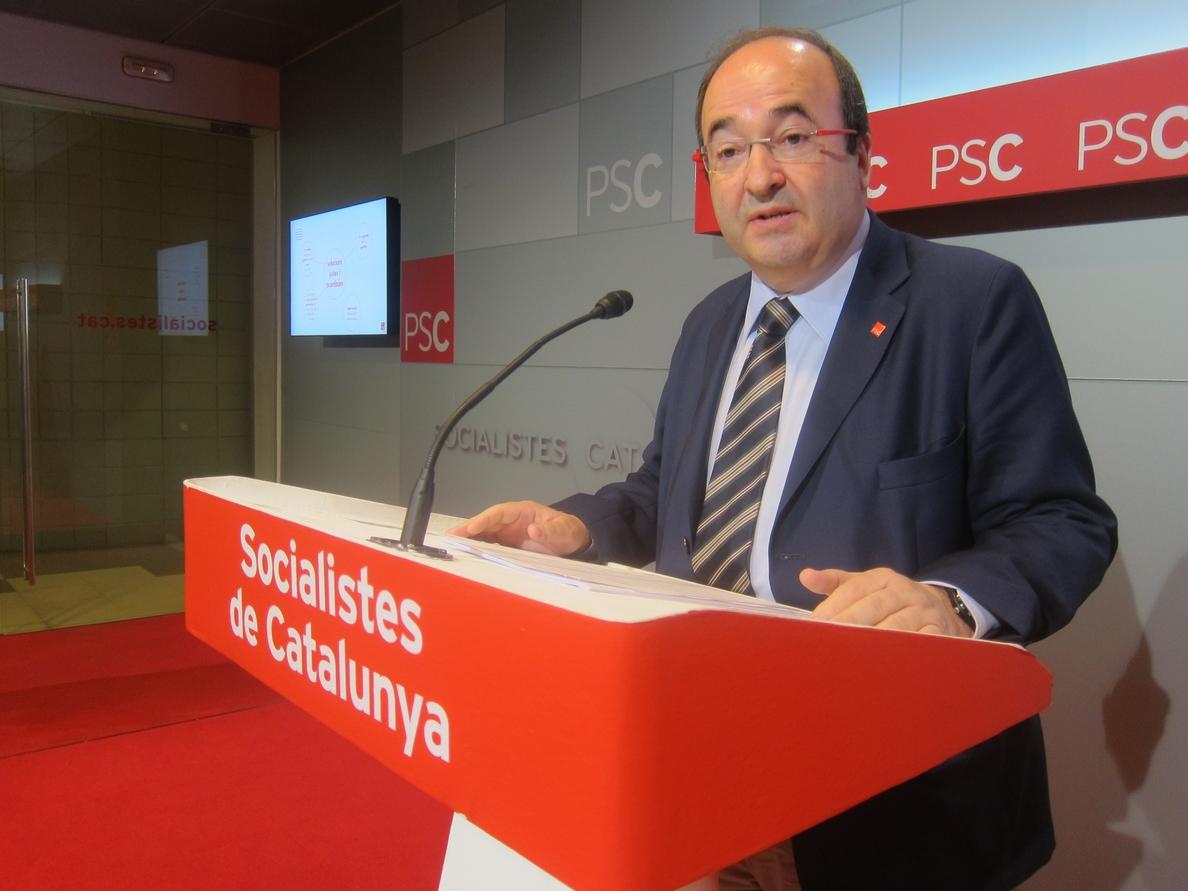 Iceta cree que la lista soberanista es una «tómbola» y afea a Mas no tener el valor de liderarla
