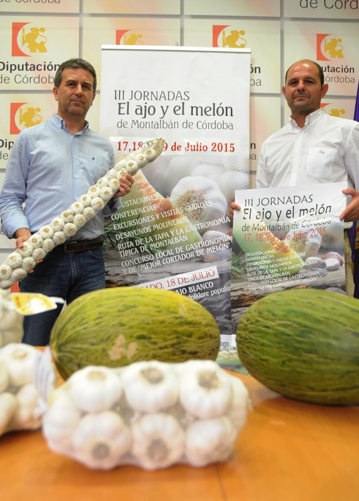 Montalbán promociona desde este viernes en las III Jornadas de »El ajo y el melón» sus dos productos estrella