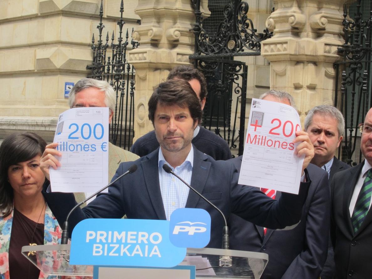 PP de Bizkaia acusa a Rementeria de «incumplir su promesa» de modificar la Ley de Aportaciones