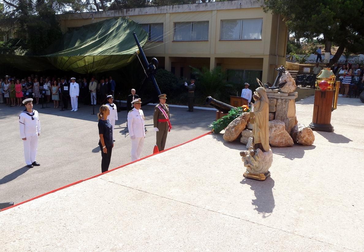 Palmer participa en la celebración de la Mare de Déu del Carme en la Estación Naval de Porto Pi
