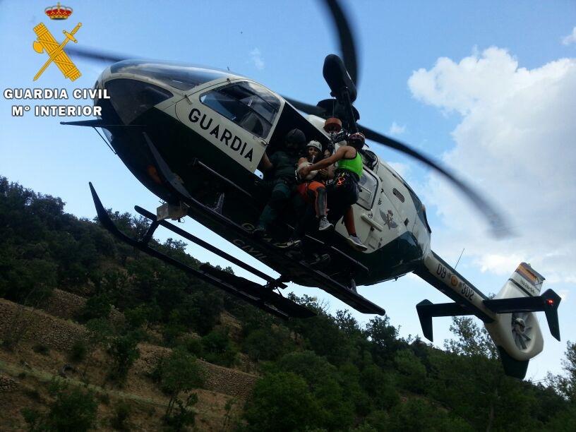 Rescatada una barranquista accidentada, en Villarluengo (Teruel)
