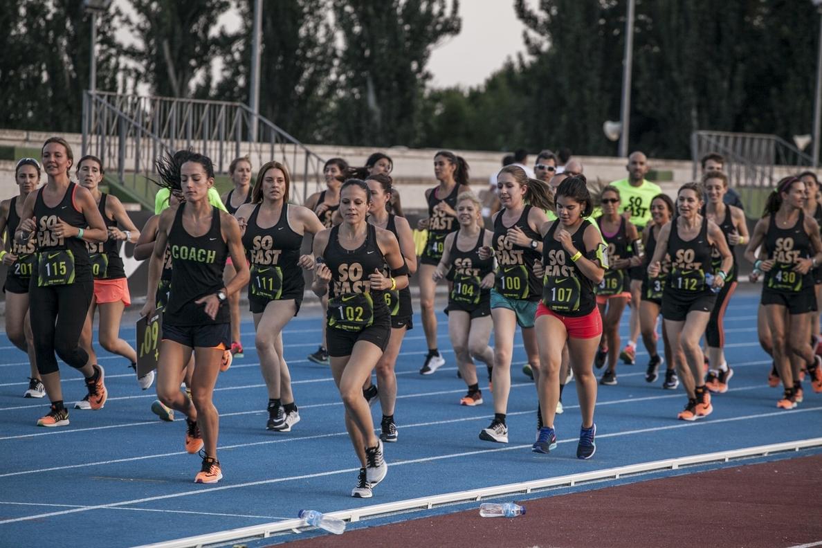 Kevin López, Roberto Aláiz, Bokesa y Rahmouni participan en la Milla Más Rápida de Nike en Madrid