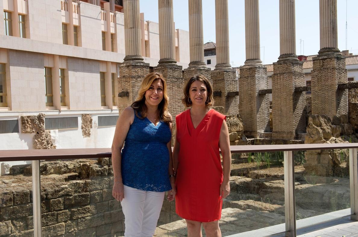 Susana Díaz abre con la alcaldesa de Córdoba una etapa de «cooperación y colaboración» para impulsar proyectos