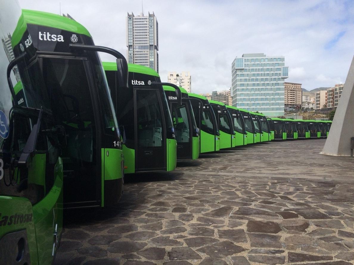 Titsa pone en funcionamiento 16 líneas nuevas en el sur de Tenerife