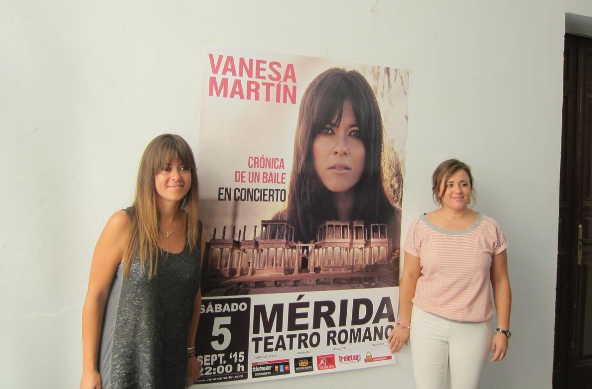 Vanesa Martín llevará su gira »Crónica de un baile» al Teatro Romano de Mérida el 5 de septiembre