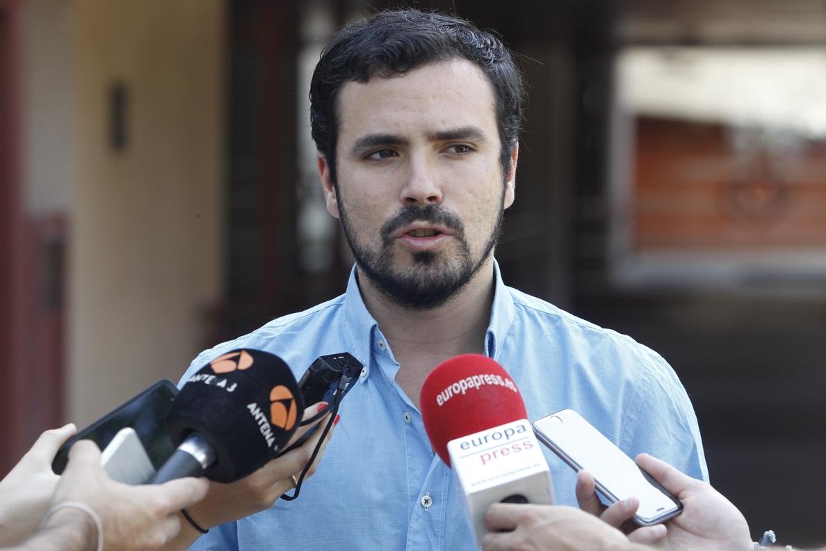 Alberto Garzón, dispuesto a presentarse a unas primarias para ser el cabeza de lista de Ahora en Común
