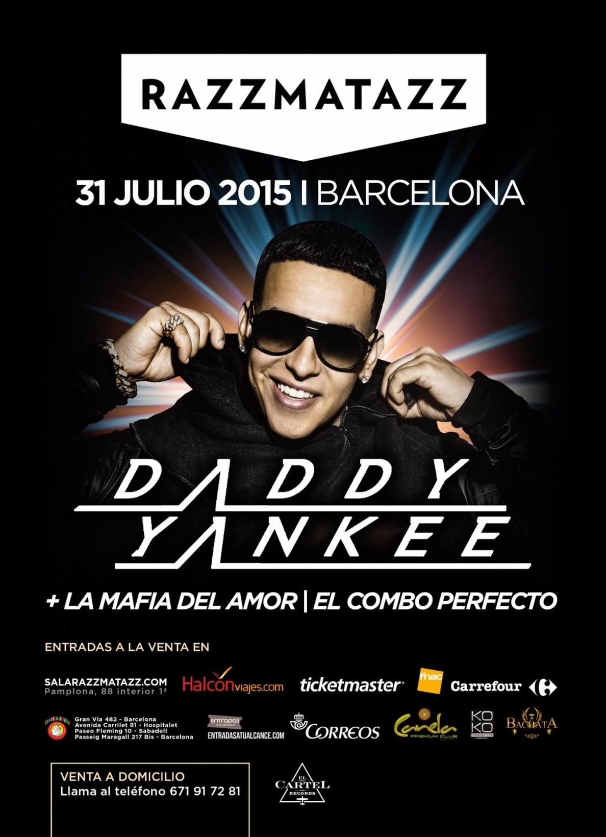 Daddy Yankee actuará en Razzmatazz de Barcelona el 31 de julio
