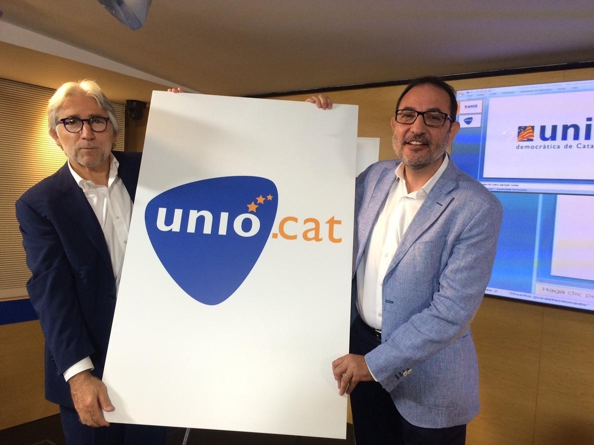 UDC presenta un nuevo logo que simboliza la centralidad catalana y el europeísmo