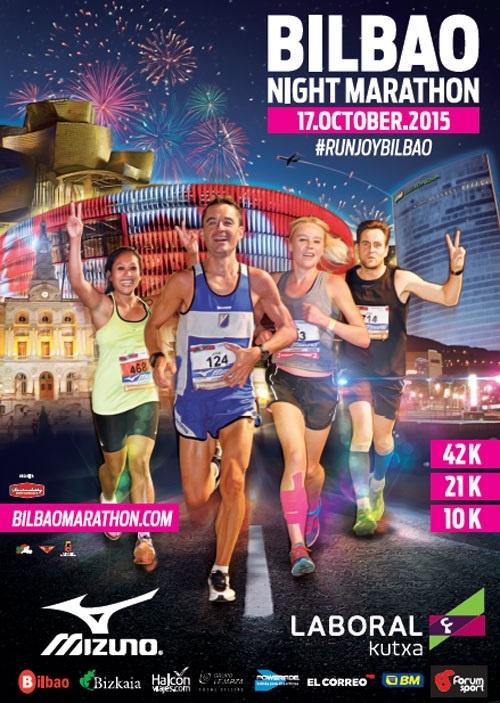 Bilbao Night Marathon 2015 obligará a restringir el tráfico en las principales calles de Bilbao