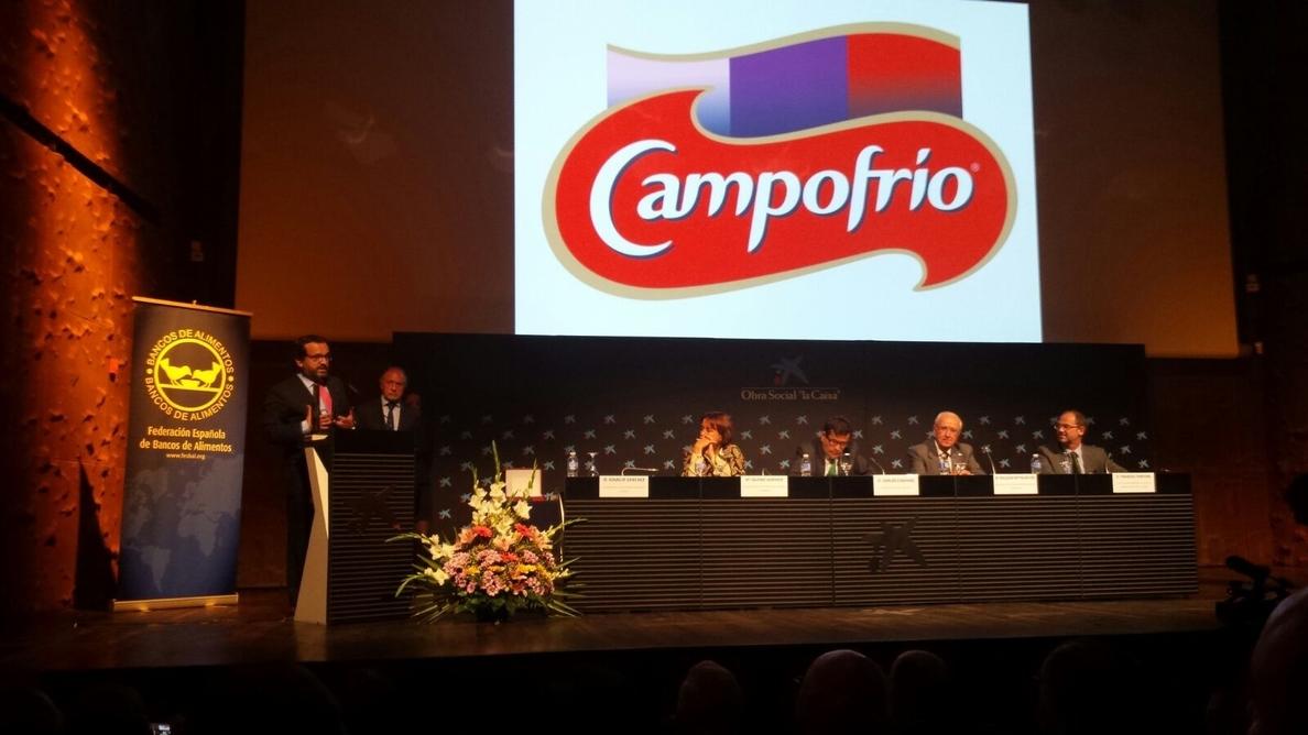 Campofrío recibe el Premio Espiga de Oro por su contribución a la Federación Española de Bancos de Alimentos