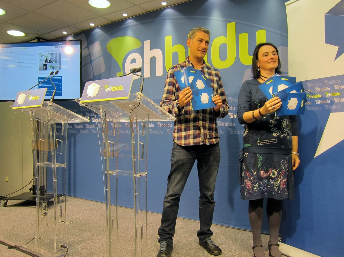 EH Bildu abre el proceso para la elección de candidatos a las elecciones generales por las asambleas locales