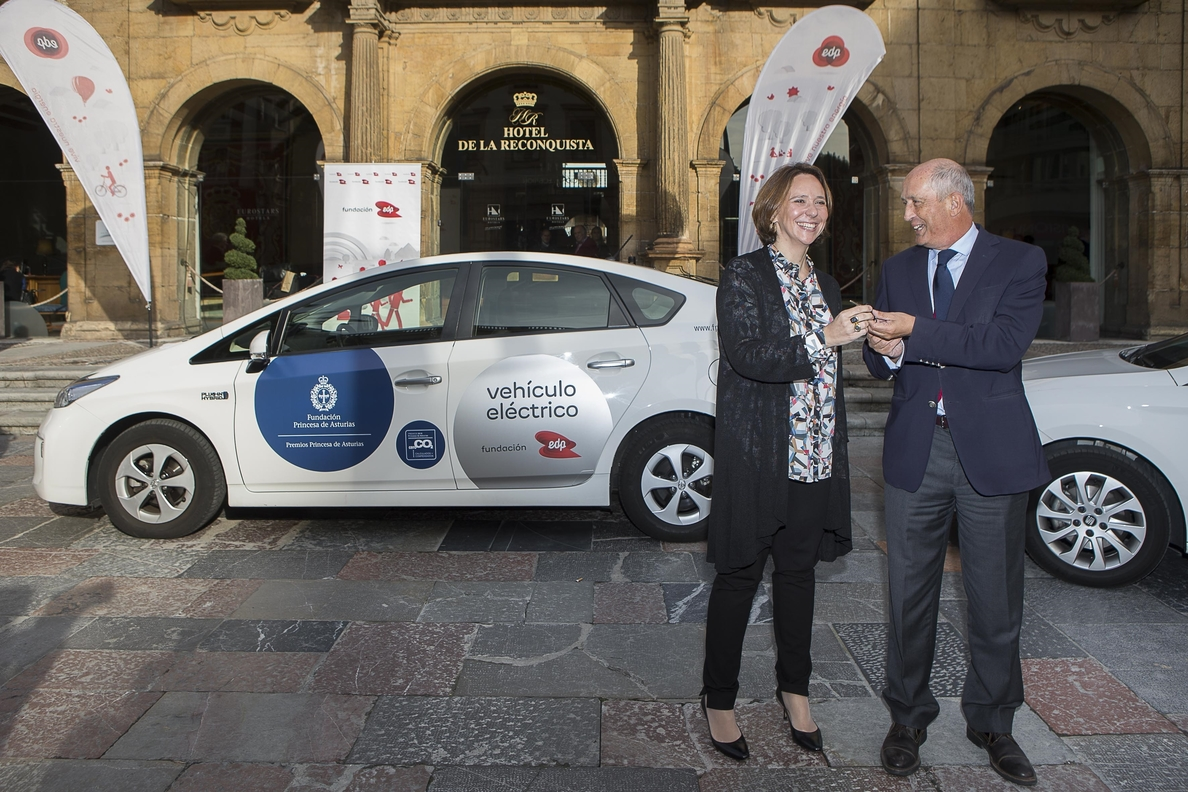 Fundación EDP cede tres vehículos de energías alternativas a la Fundación Princesa de Asturias