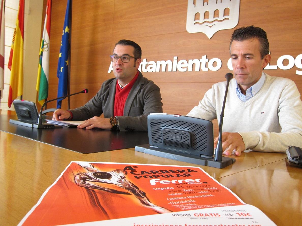Logroño acoge el 31 de octubre la IV Carrera »Ferrer Sport Center» y una prueba infantil