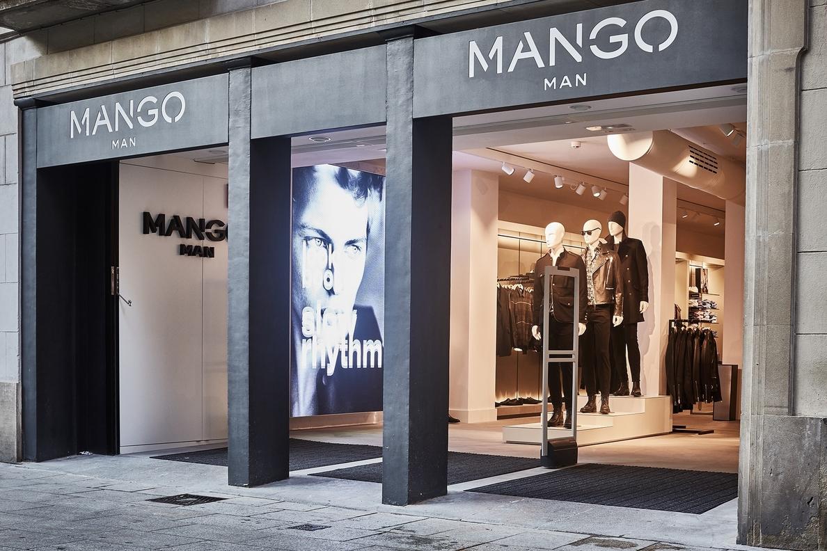 Mango abre una gran tienda de su línea masculina en Portal de l»Àngel de Barcelona