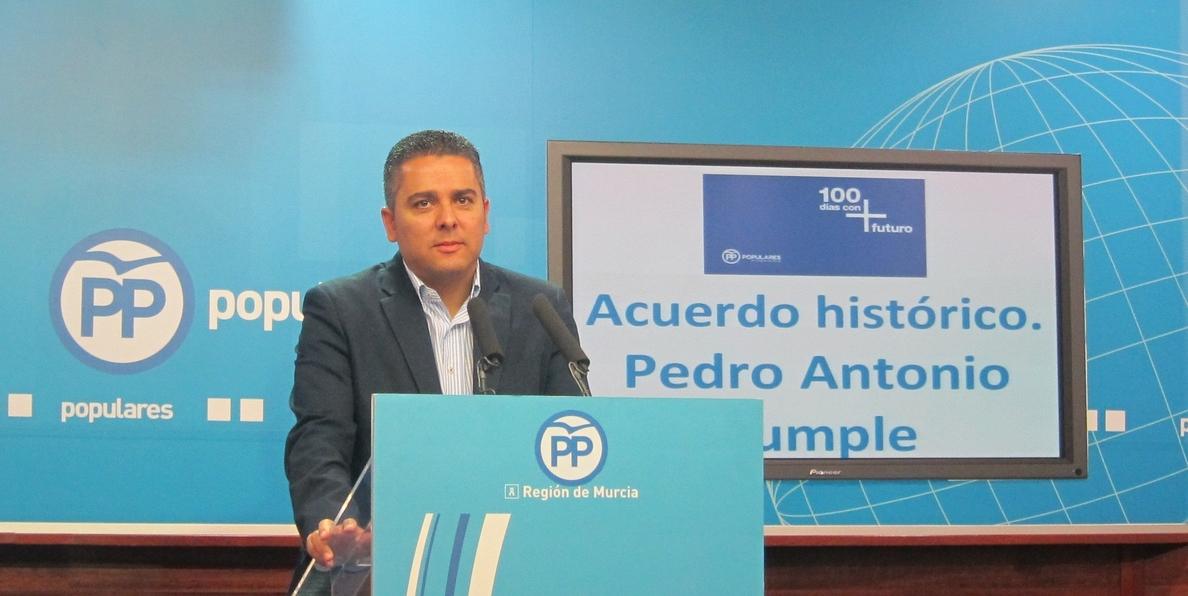 PP dice que regantes dispondrán próxima semana del agua desalada y llama al PSOE a que valore acuerdo histórico