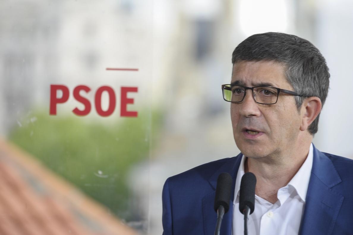Patxi López sobre la declaración de Mas ante los tribunales: «Se inhabilita a sí mismo cuando monta esos espectáculos»