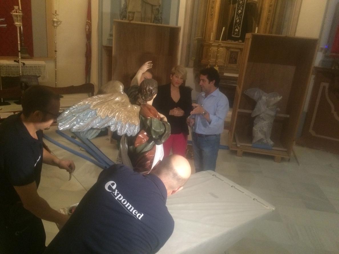 Los ángeles y la custodia de San Juan de Dios creados por Salzillo se exhiben a partir de la próxima semana en Thyssen
