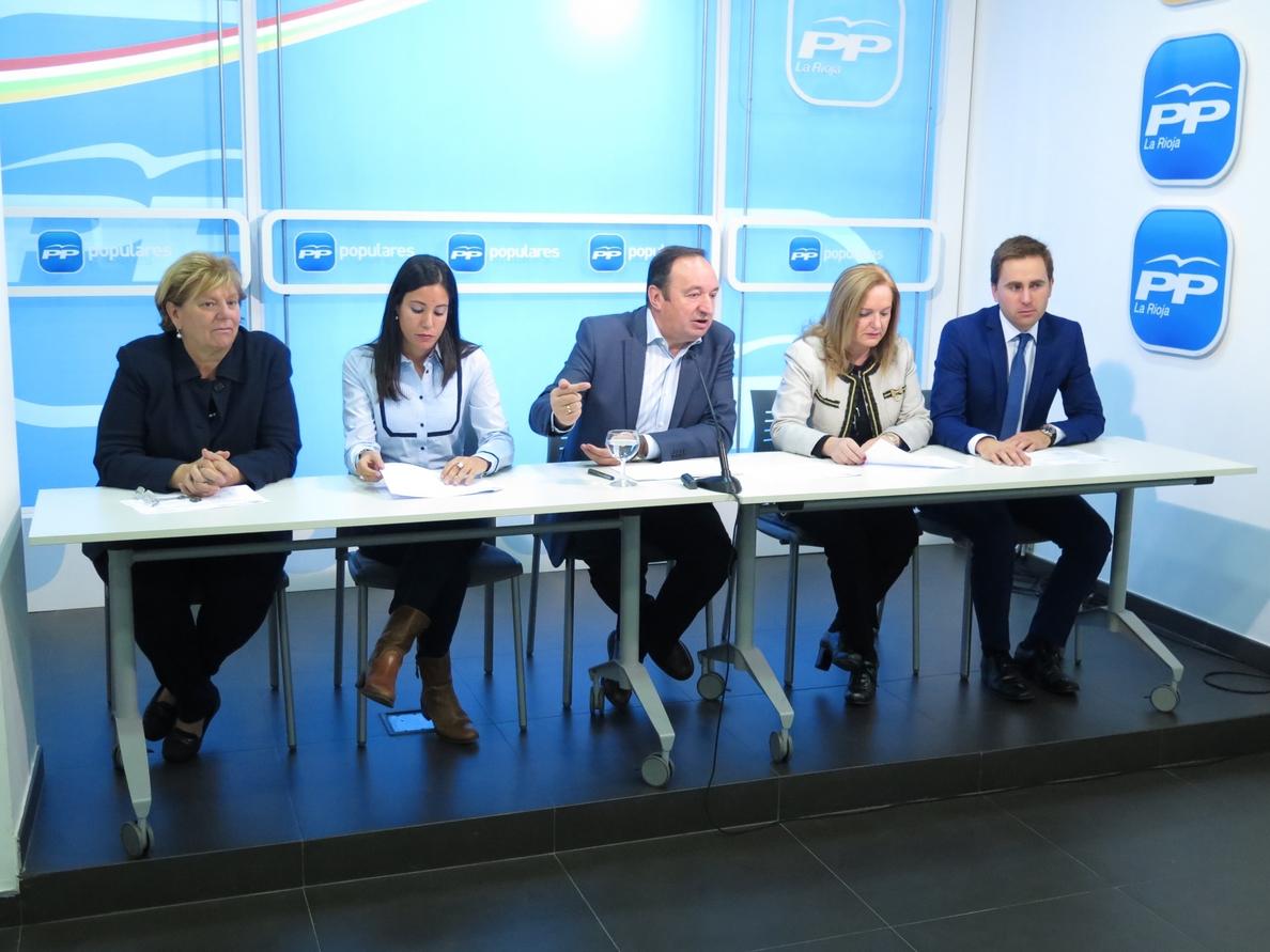 Sanz ensalza el crecimiento de los presupuestos para La Rioja, del 10%