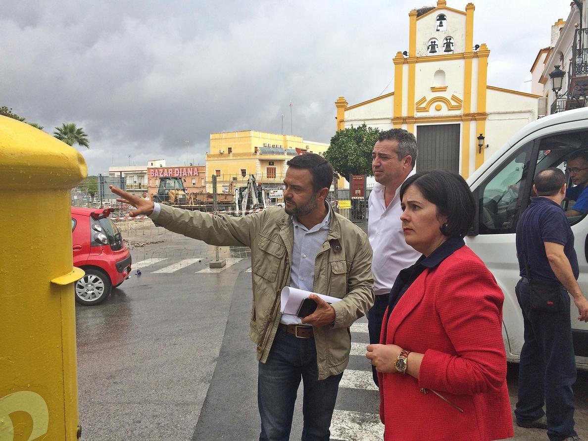 Visita institucional a Las Cabezas para comprobar las obras del Supera y el Plan de Cooperación local