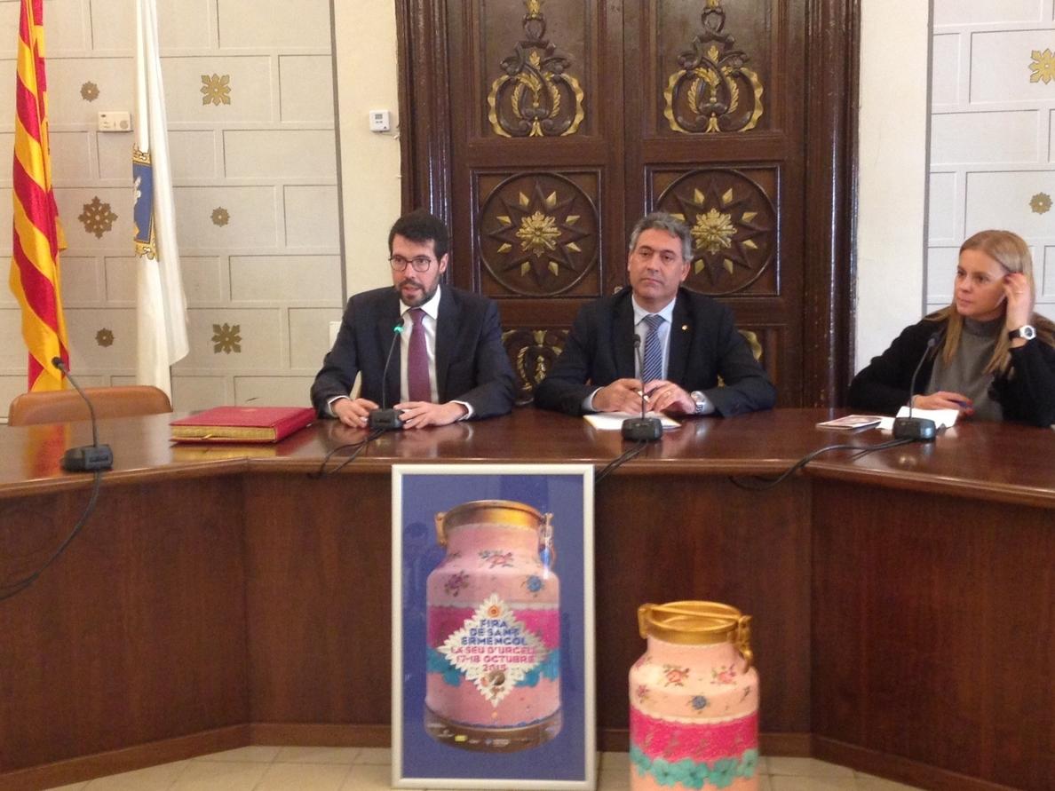 Ciuraneta reivindica el sector lácteo catalán en la Fira de Sant Ermengol