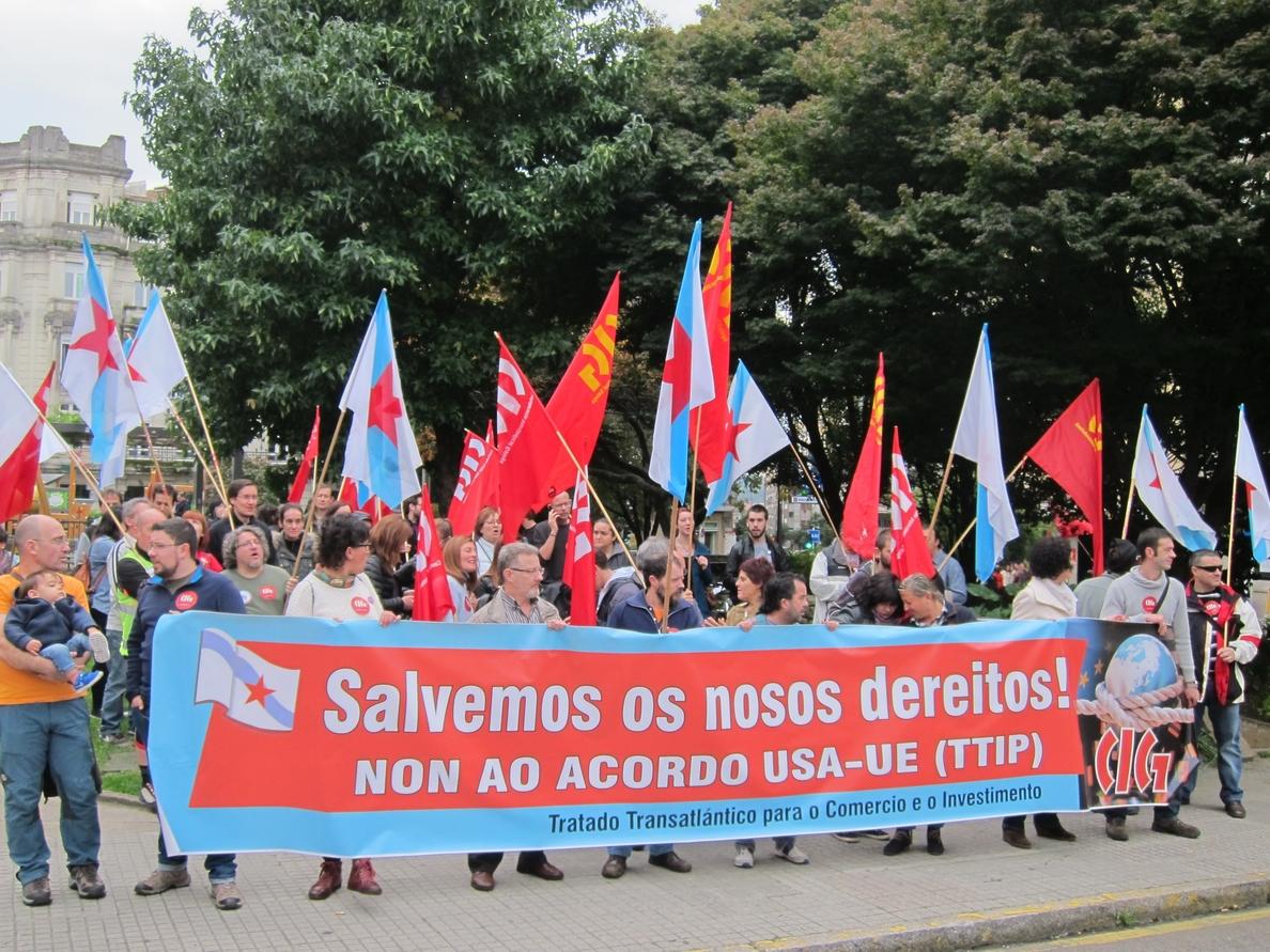 Concentraciones en las ciudades gallegas para rechazar los tratados internacionales TTIP y CETA