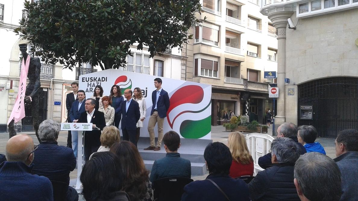 PNV dice que en el PP vasco «pesa más» el interés electoral de Rajoy que el avance del proceso de paz y convivencia