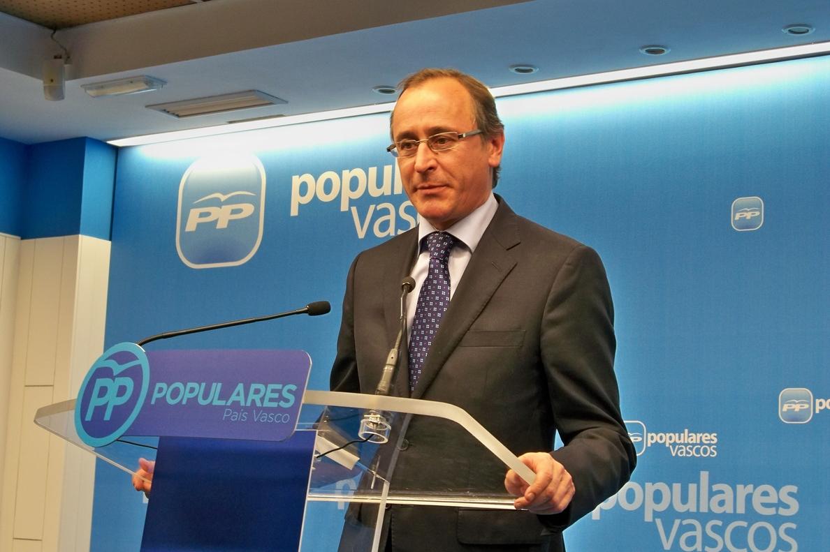 Alonso (PP) cree que Sortu se tiene que «mover» hacia la «condena» a ETA, lo que es «una posición ética, no política»