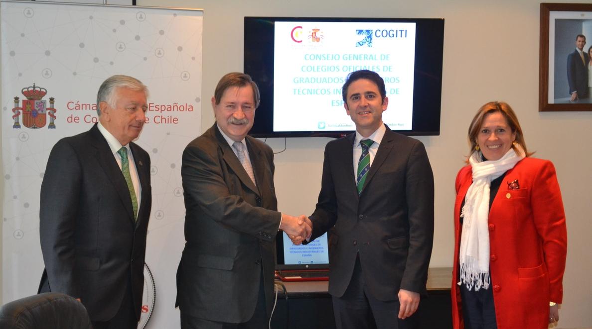 El presidente del COGITI se reune en Chile con empresas tecnológicas para potenciar la contratación de ingenieros