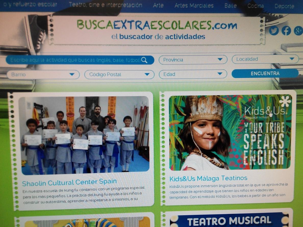 Nace un buscador gratuito de academias y centros de actividades extraescolares para niños