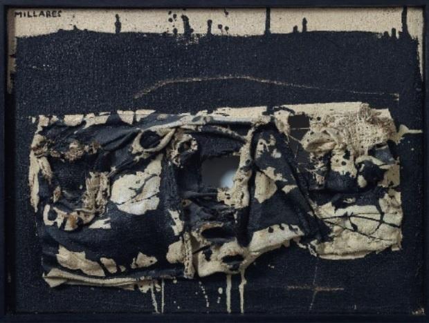 Una obra de Manolo Millares perteneciente a la colección personal de Camilo José Cela a subasta en Christie»s París