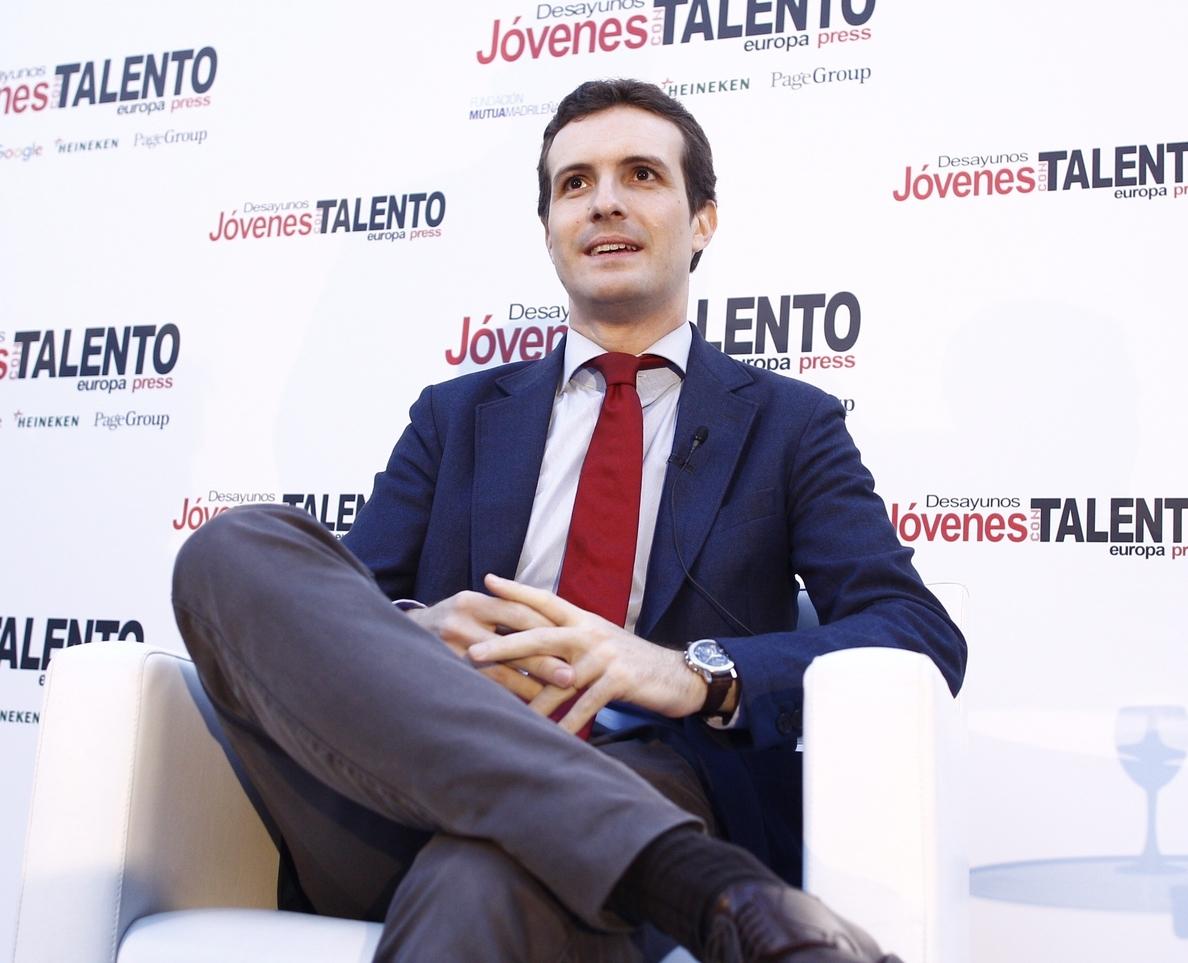 Casado avisa a Rivera que si apoya al PSOE pese a ganar Rajoy habrá «por primera vez» un «gobierno de perdedores