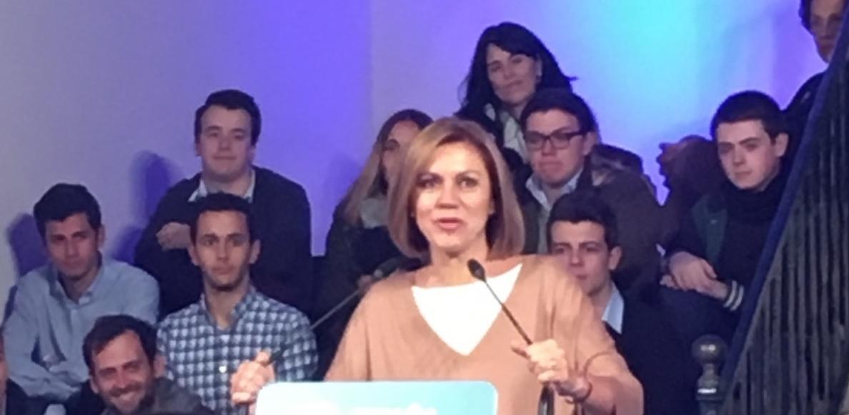 Cospedal critica que el Govebierno balear apruebe los Presupuestos de 2016 tras las elecciones del 20D