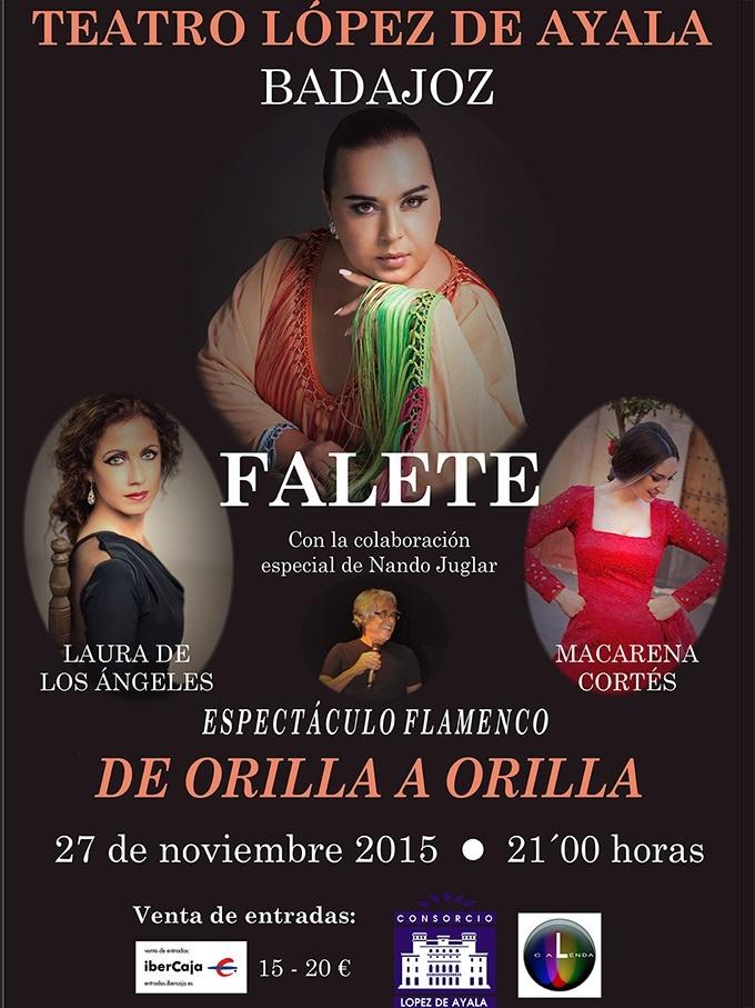 Falete ofrece un espectáculo este viernes en el López de Ayala de Badajoz acompañado por una bailaora y una pianista
