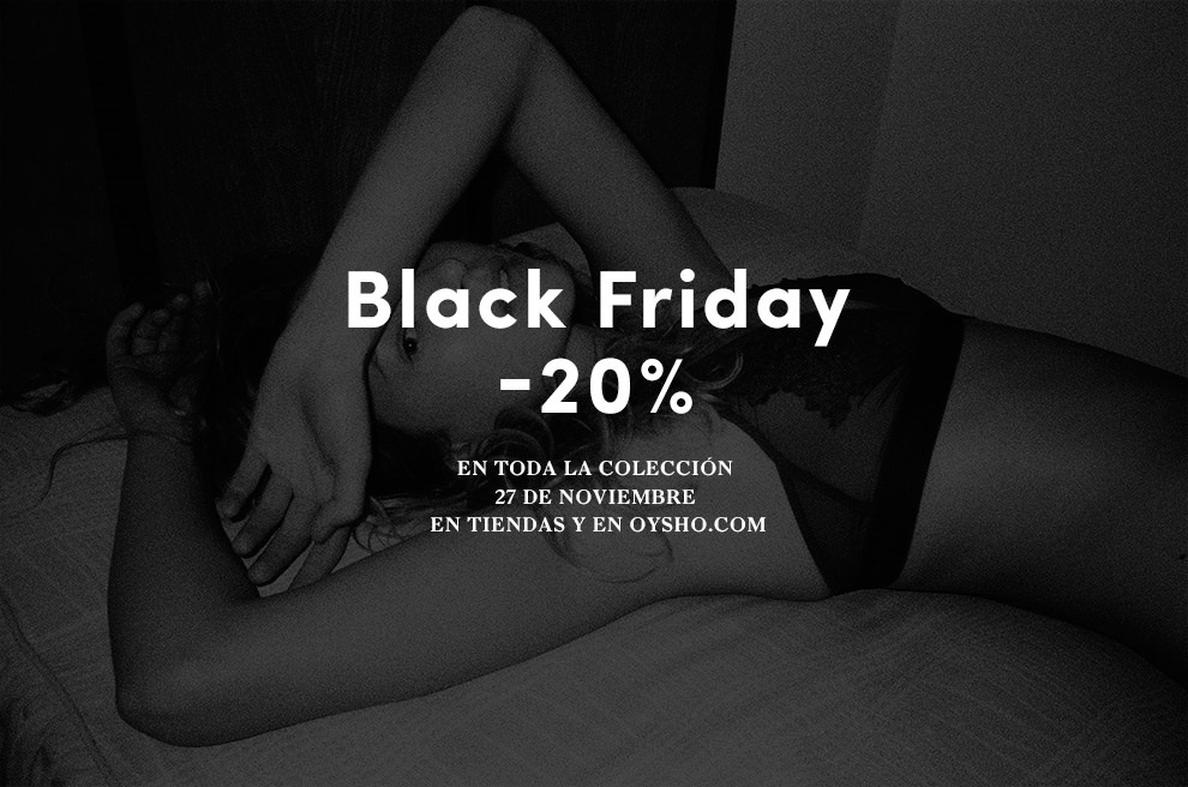 Oysho (Inditex) y Blanco se apuntan al Black Friday con ofertas en tiendas y en la web