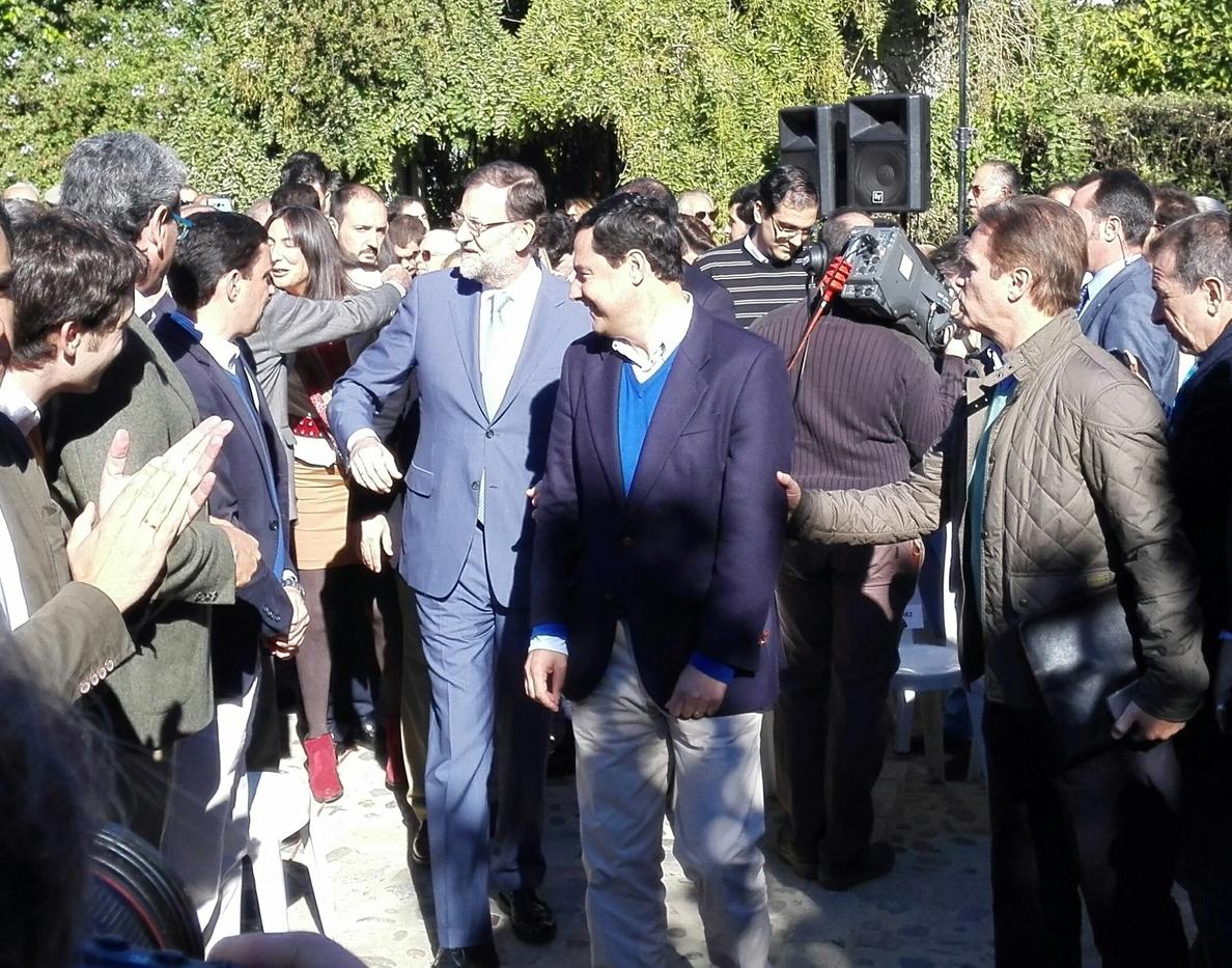 Rajoy destaca su apuesta por Andalucía y garantizará que continuará en el futuro