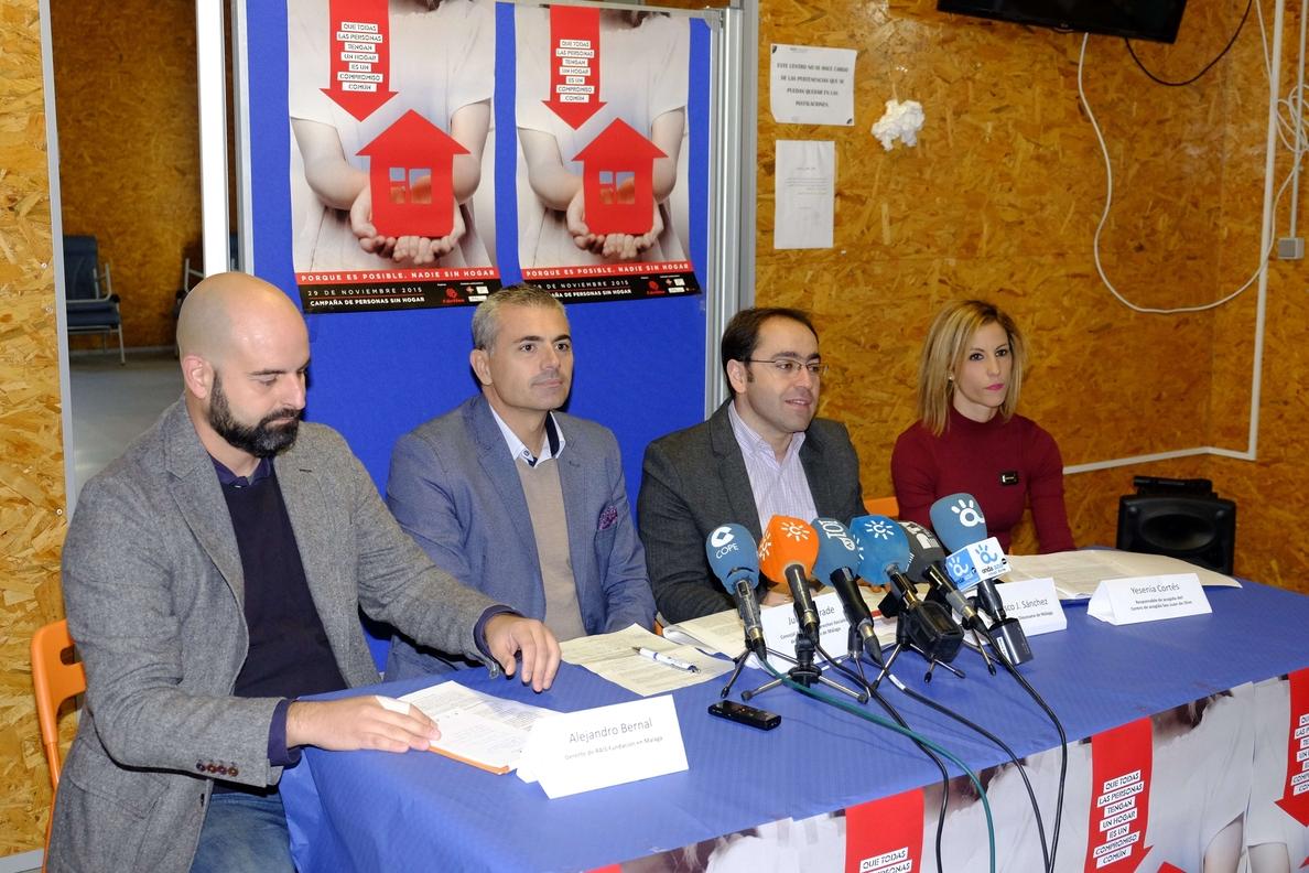 Los centros de acogida de Málaga asisten a cerca de 260 personas sin hogar en la capital