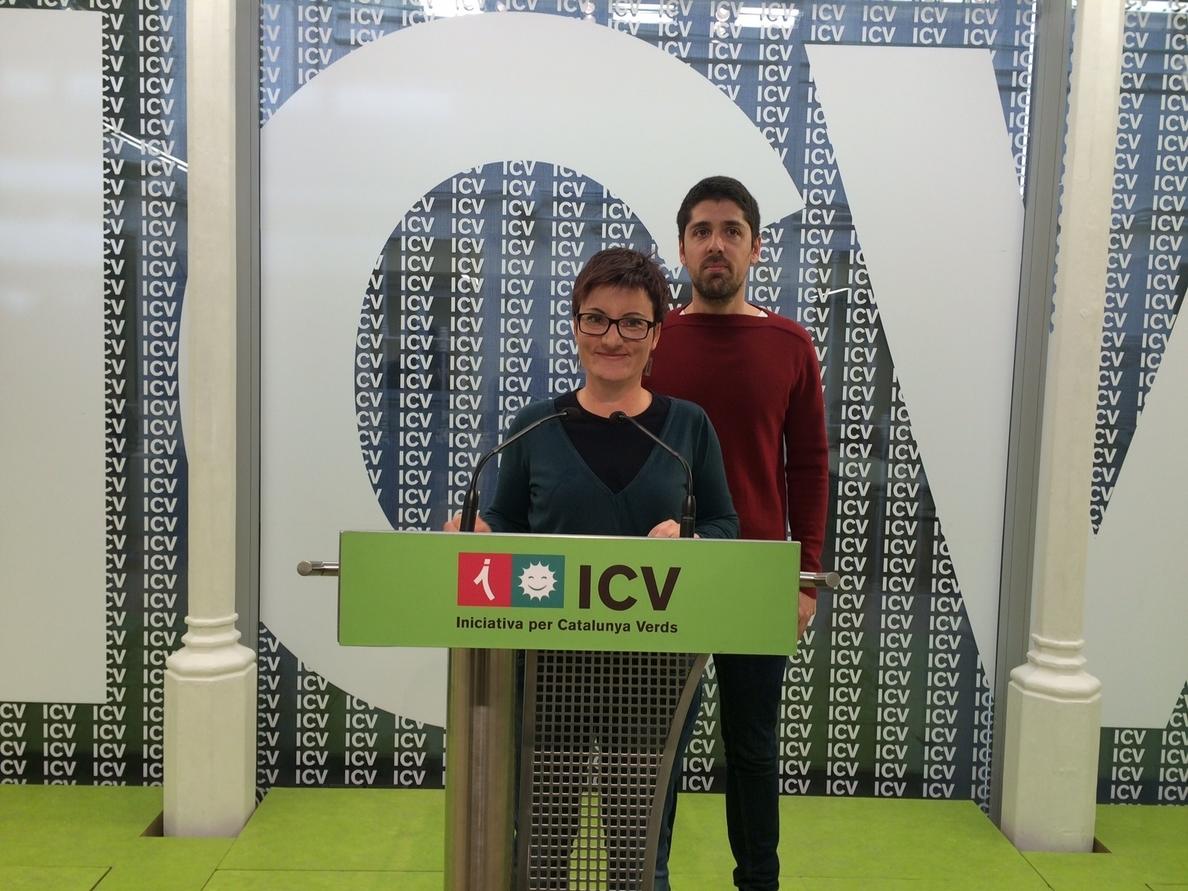 ICV irá a los actos institucionales de la Diada «como siempre» y pide un referéndum