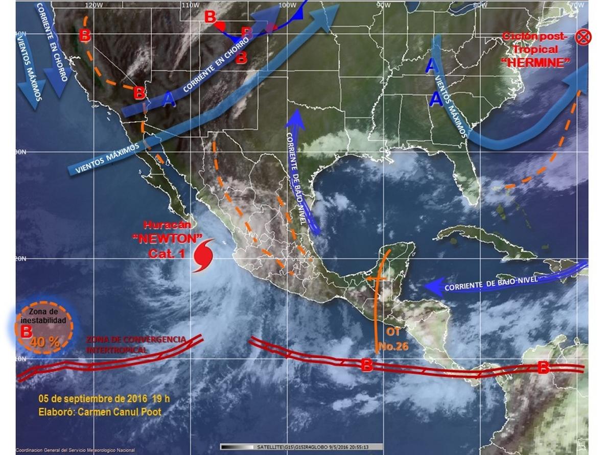 Mueren dos personas a causa del paso del huracán »Newton» por el noroeste de México