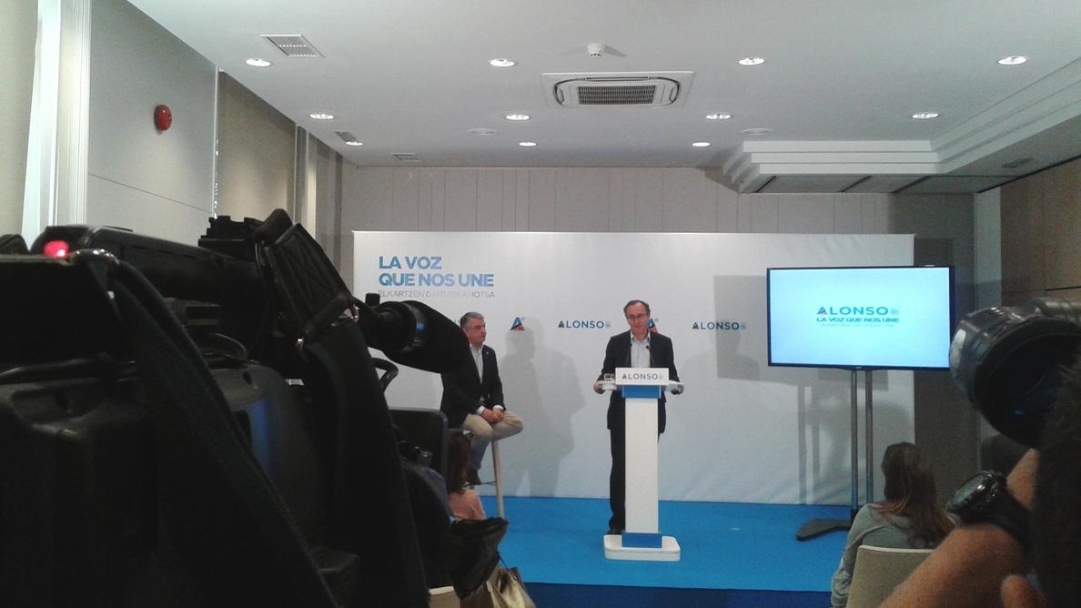 Alonso asegura que el PP es «la única alternativa» al proyecto nacionalista en Euskadi