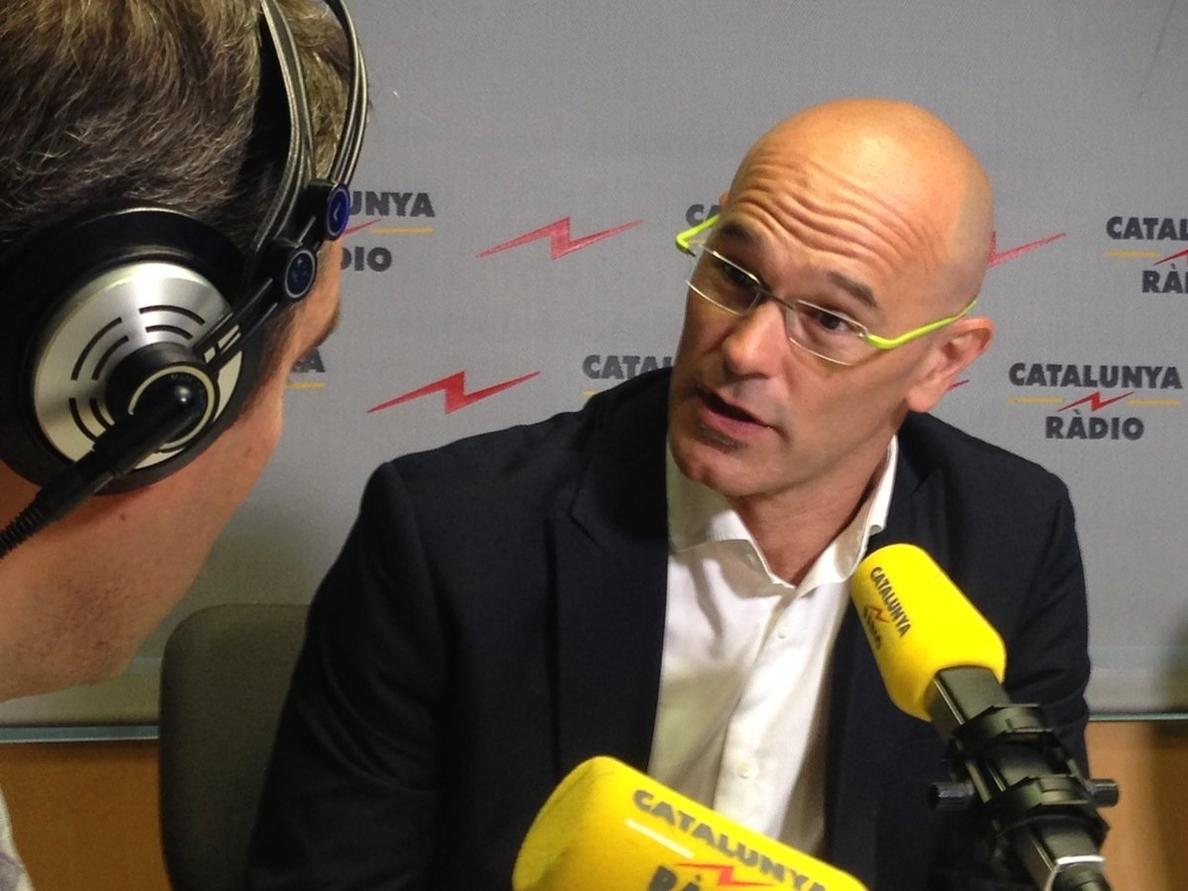 Romeva defiende que la Diada llenará «de legitimidad» el proceso independentista