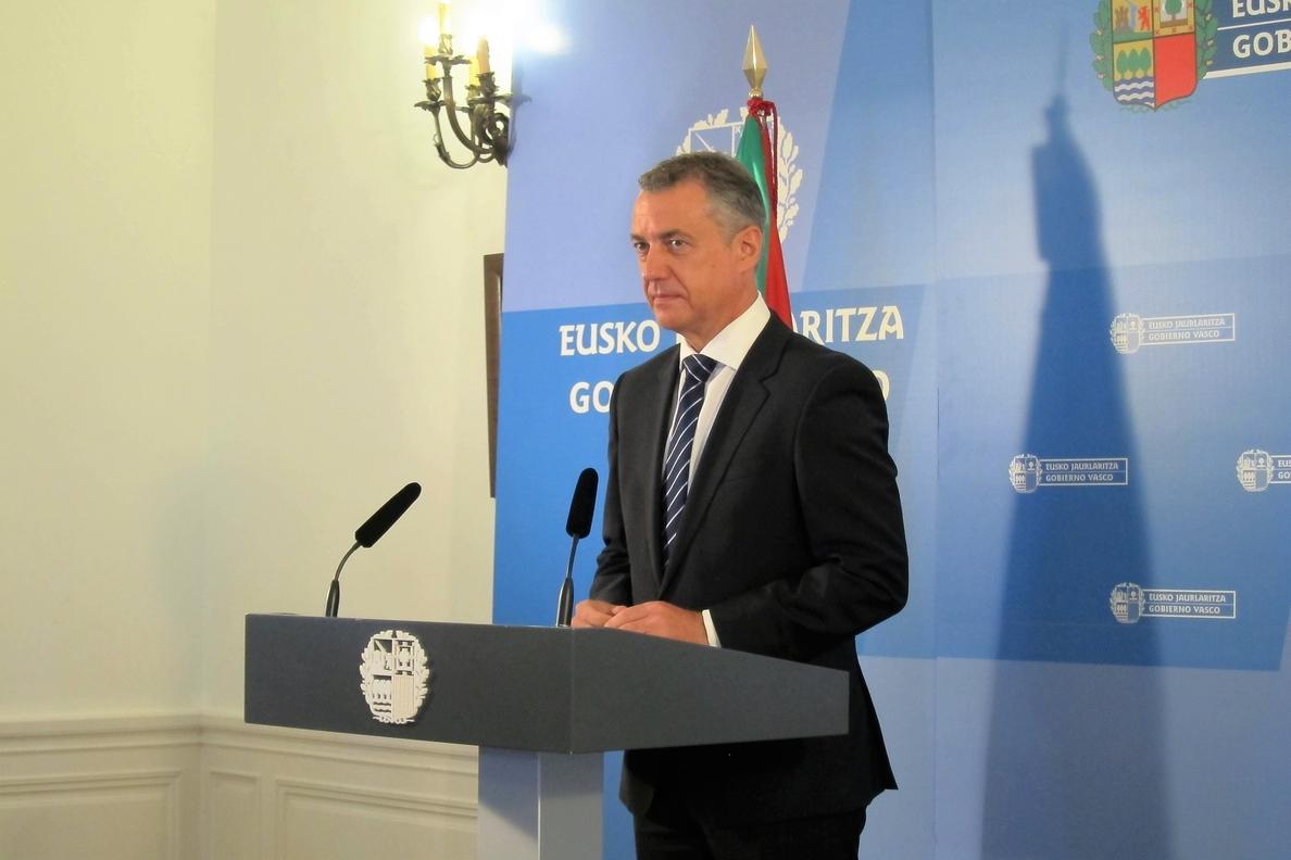 Urkullu advierte al PP de que es «inútil y absurdo» esperar al 25S porque el PNV no respaldará a Rajoy