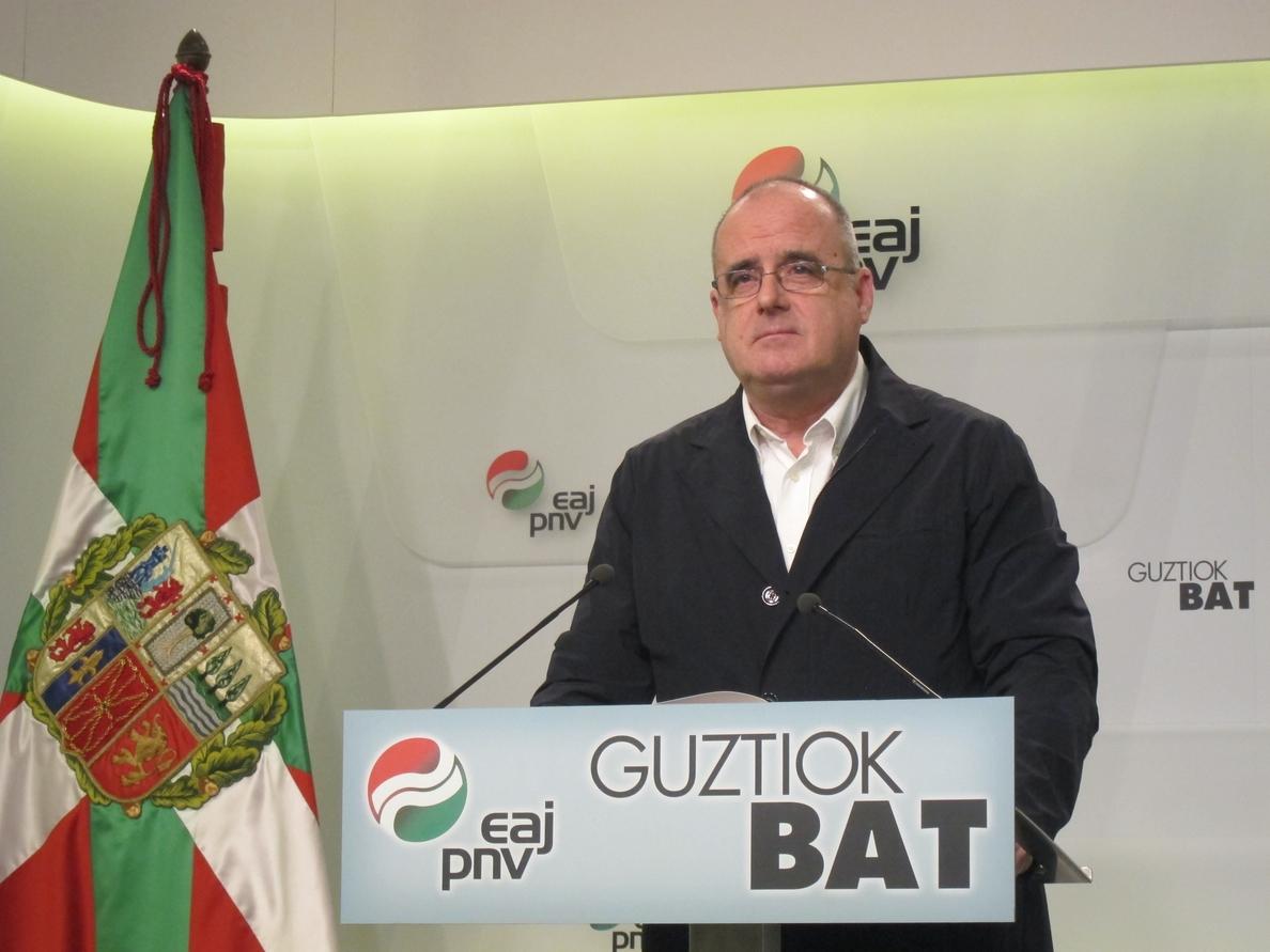 Egibar afirma que el objetivo del PNV es «tener un estado propio» pero cree que «no se va a lograr en cuatro años»