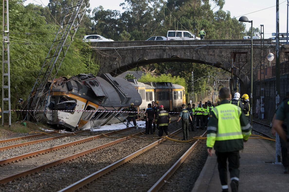 Los muertos en el accidente ferroviario de O Porriño se elevan a cuatro