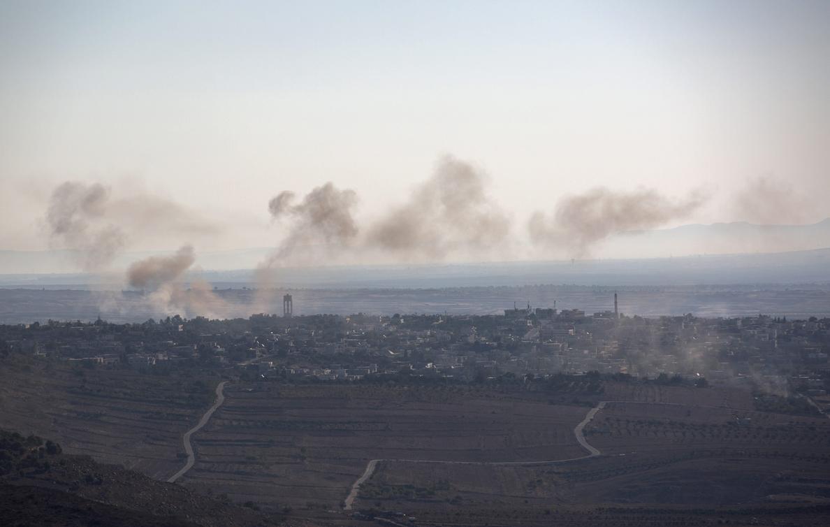 Israel ataca posiciones sirias en el Golán después de la caída de proyectil