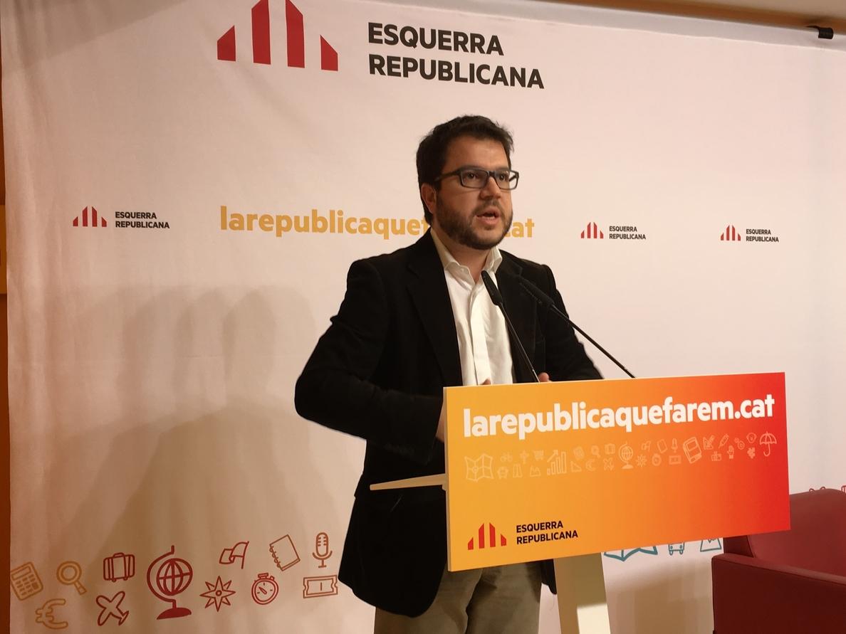 Pere Aragonés: «El paso de hoy aporta credibilidad»